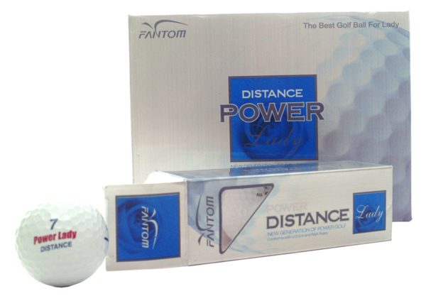 Golf ball with packing